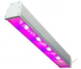Светодиодный фитосветильник с максимальной спектральной эффективностью SSO-220/48-05.2(FGO-MP) Спектр светильников содержит большую составляющую гипер красного (HyperRed 660 нм) спектра. Предназначены для досветки плодоносящих культур, требовательных к качеству освещения - огурцы, томаты, перец и т.п.