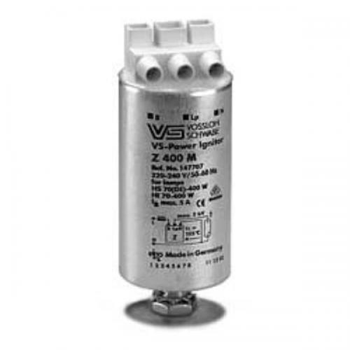 Импульсное зажигающее устройство для металлогалогенных(HI)(35-400W) и натриевых(HS)(70(DE)-400W) ламп высокого давления для сети 220-240 Вольт. Зажигающее устройство используется для запуска газоразрядных ламп высокого давления