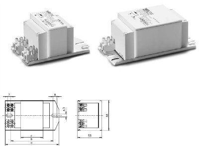 ЭмПРА Schwabe Hellas NaHJ 250.204 250W МГЛ/ДНАТ NaHJ 250.204 529087 Стандартный ЭмПРА (электромагнитный ПРА / дроссель / балласт) для натриевых (ДнАТ) и металлогалогенных (МГЛ) ламп 250W, 220V