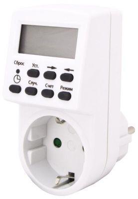 Таймер ТРЭ-01 TDM электронный Розеточный электронный таймер TDM ТРЭ-01 SQ1506-0002 может работать как в суточном, так и недельном режиме. Установка нужного временного интервала осуществляется при помощи кнопок с отображением информации на ЖК-дисплее.