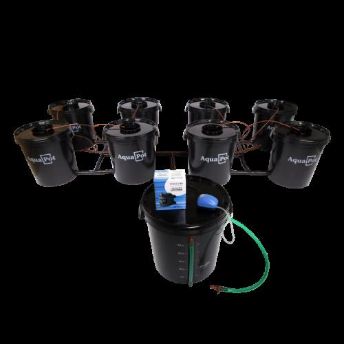 Гидропонная система AquaPot  XL 8  Предназначена для выращивания одно- и многолетних растений в теплицах, оранжереях и в домашних условиях. В основе работы системы лежит принцип глубоководной культуры (DWC - deep water cultivation). Один из самых распространенных и эффективных методов гидропонного выращивания.