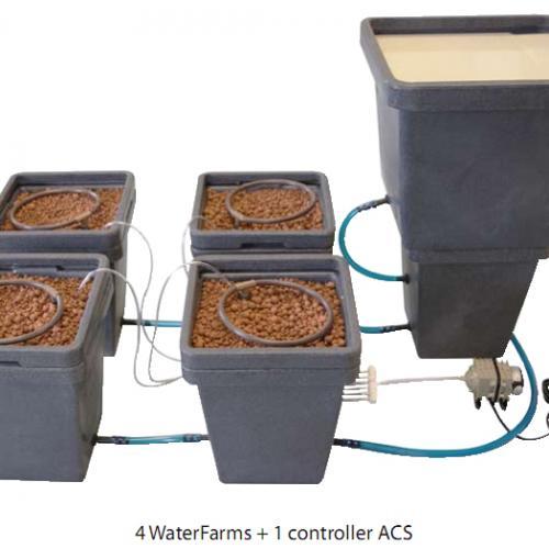 WaterPack ACS HW GHE  Water Pack «ACS» - Активная Система Циркуляции (Active Circulation System) – модульная гидропонная система.  Позволяет автоматически поддерживать заданный уровень раствора во всех подключенных системах и вызывать его активную, динамическую циркуляцию.