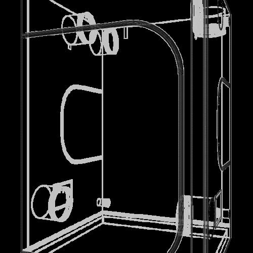 Dark Room V3.0 150x150x235 cm Профессиональный гроутент, сделан из высококачественного светоотражающего материала «Mylar». Диаметр труб каркаса 19 мм, обеспечивает непревзойденную жесткость конструкции.