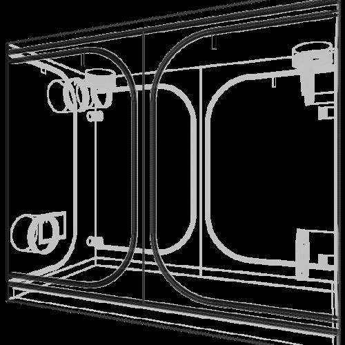 Dark Room Wide 240x120x200 cm V3.0 Профессиональный гроутент, сделан из высококачественного светоотражающего материала «Mylar».