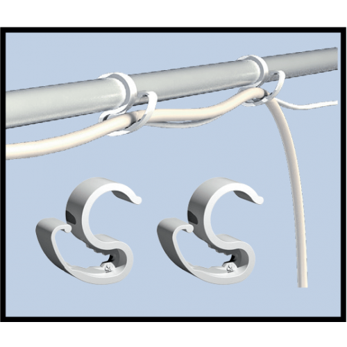 15x CableIT D16mm Пластиковые зажимы  для проводов Предназначены для фиксации кабеля внутри тент-палатки.