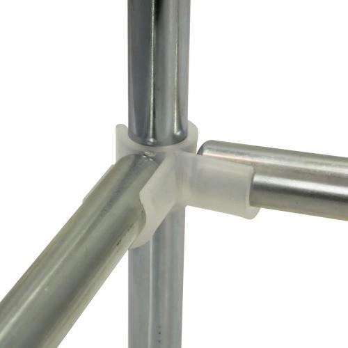 D19 mm Space Booster Kit 60 cm Комплект Space Booster Kit состоит из 4-х пластиковых уголоков-зажимов и 4-х стальных трубок.