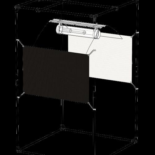 Orca The Fifty 150 x 65 cm 1 sheet Отражающий экран, сделанный из материала с высокой степенью отражения - Orca Специальный материал из белой пластиковой микрофибры позволяет растениям поглощать больше фотонов