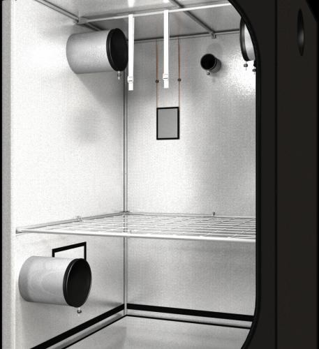 Dark Street v3,0 120x120x185cm Профессиональный гроутент, сделан из высококачественного светоотражающего материала «Mylar». Диаметр труб каркаса 16 мм, обеспечивает непревзойденную жесткость конструкции.
