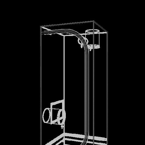 Dark Street v3,0 60x60x150 cm Профессиональный гроутент, сделан из высококачественного светоотражающего материала «Mylar». Диаметр труб каркаса 16 мм, обеспечивает непревзойденную жесткость конструкции