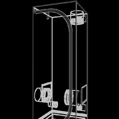 Dark Street 90x90x170 cm V3.0 Профессиональный гроутент, сделан из высококачественного светоотражающего материала «Mylar». Диаметр труб каркаса 16 мм, обеспечивает непревзойденную жесткость конструкции.