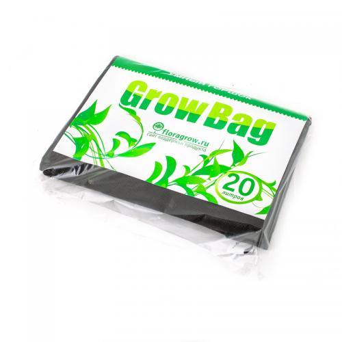 Grow Bag 20 л, 1 шт  (min заказ 15шт) Нетканный мешок для растений, изготовленный из специального текстильного полотна. Обеспечивает максимально благоприятные условия для роста растений, обеспечивает аэрацию и подрезание корней, а также воду, что исключает перелив и гниение. Горшки из текстиля изготавливаются из надежных высококачественных материалов и могут использоваться неоднократно.