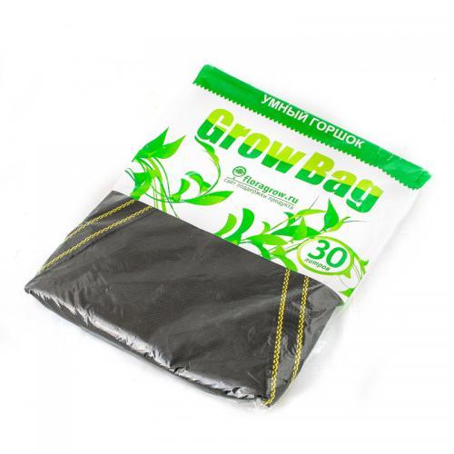 Grow Bag 30 л, 1 шт  (min заказ 15шт) Нетканный мешок для растений, изготовленный из специального текстильного полотна. Обеспечивает максимально благоприятные условия для роста растений, обеспечивает аэрацию и подрезание корней, а также воду, что исключает перелив и гниение. Горшки из текстиля изготавливаются из надежных высококачественных материалов и могут использоваться неоднократно.