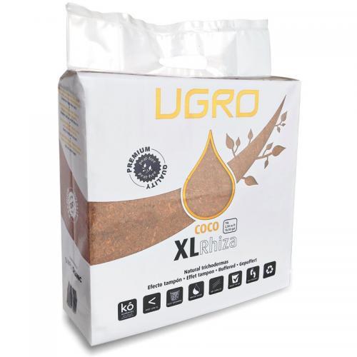 Кокосовый субстрат UGro XL Rhiza XL Rhiza представляет собой 5-ти килограммовый брикет пресcованной кокосовой «пыли» с 5-ти процентным содержанием эндомикоризы. Большая упаковка служит для большей экономии, ведь необходимо всего 28 литров воды, чтобы превратить UGro XL в 70 литров высококачественного кокосового «торфа». Данный субстрат подходит для всех видов однолетних и сезонных культур.