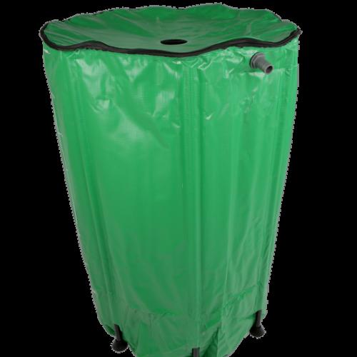 Функции: 1) используется для собирания дождевой воды  для полива растений 2) легко собирается, не требует специальных инструментов 4) резервуар компактно складывается и его удобно хранить 5) имеется крышка с замком-молнией