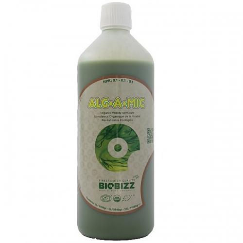 Иммуностимулятор Alg-A-Mic BioBizz 1 L  Alg-A-Mic – восстанавливающий продукт из высококачественного органического концентрата морских водорослей.  Alg-A-Mic обладает высоким содержанием микроэлементов, гормонов растительного происхождения, аминокислот и витаминов, необходимых растению. Обеспечивает изобилие зелени и устойчивость растений к заболеваниям.