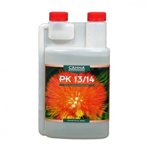 Стимулятор цветения CANNA PK 13/14, 0.5 L CANNA PK 13/14 – высококачественная смесь фосфора и калия, которые играют важную роль и активно используются растением в период цветения. Благодаря особому процессу производства компании CANNA удалось создать продукт с высокой концентрацией и калия, и фосфора, поэтому PK 13/14 быстро и напрямую поступает в растение.