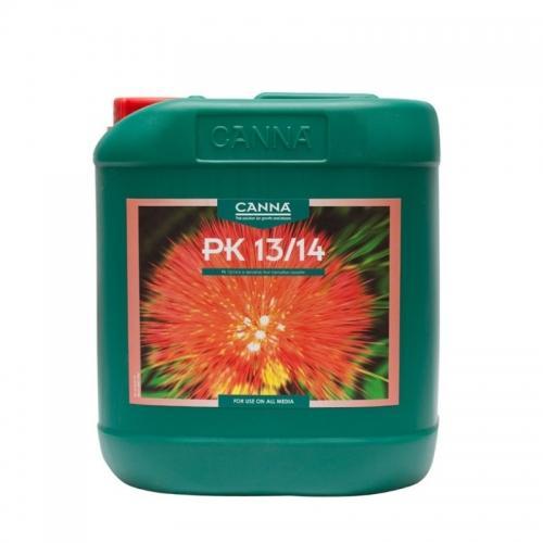 Стимулятор цветения CANNA PK 13/14, 5 L CANNA PK 13/14 – высококачественная смесь фосфора и калия, которые играют важную роль и активно используются растением в период цветения. Благодаря особому процессу производства компании CANNA удалось создать продукт с высокой концентрацией и калия, и фосфора, поэтому PK 13/14 быстро и напрямую поступает в растение.