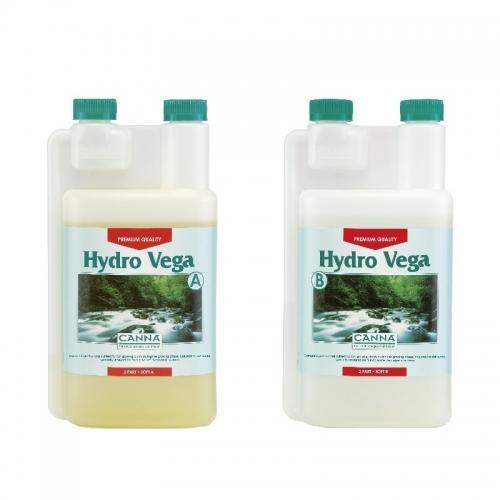 Двухкомпонентное удобрение для стадии вегетации CANNA Hydro Vega A+B, 1 L (soft water) Двухкомпонентное удобрение для стадии вегетации при выращивании в нереверсивных гидропонных системах. Разработано для мягкой воды.