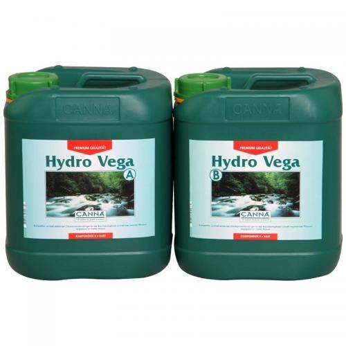Двухкомпонентное удобрение для стадии вегетации  CANNA Hydro Vega A+B, 5 L (hard water) Двухкомпонентное удобрение для стадии вегетации при выращивании в нереверсивных гидропонных системах. Разработано для жесткой воды.