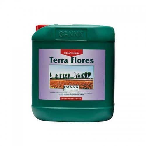 Двухкомпонентное удобрение для стадии цветения CANNA Terra Flores, 5 L Двухкомпонентное удобрение для стадии цветения при выращивании на почве (почвосмесях). CANNA Terra Flores стимулирует плодоношение и усиливает характерный для каждого вида растений аромат. Удобрение разработано для выращивания на различных почвосмесях как в закрытом помещении, так и на открытом воздухе.