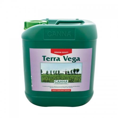 Двухкомпонентное удобрение для стадии вегетации CANNA Terra Vega, 5 L Двухкомпонентное удобрение для стадии вегетации при выращивании на почве (почвосмесях). CANNA Terra Vega обеспечивает растения всеми необходимыми для вегетативной фазы роста элементами в доступной форме. Удобрение разработано для выращивания на различных почвосмесях как в закрытом помещении, так и на открытом воздухе.