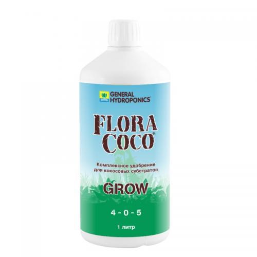 Flora Coco Grow 1 L, (t°C) Flora Coco Grow - обеспечит Ваши растения полноценным и сбалансированным питанием на стадии вегетативного роста.  Flora Coco Grow и Bloom - концентрированое, полноценное удобрение с содержанием магния и кальция. Flora Coco это уникальная формула, основанная на тридцатилетнем опыте компании GHE. Flora Coco так же содержит полный комплекс микроэлементов. Для  наилучшего результата используйте Flora Coco Grow вместе с  Flora Coco Bloom.