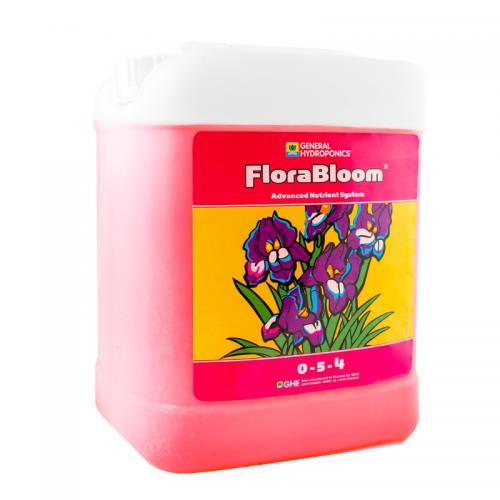 FloraBloom GHE 5 L (t°C) FloraBloom – обеспечивает растение необходимым количеством Калия (K) и Фосфора (Р) для развития здоровой корневой массы на стадии роста и плодов/цветов на стадии цветения, позволяя растению максимально использовать весь генетический потенциал.