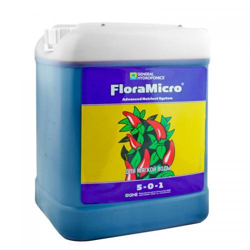FloraMicro HW GHE 5 L (для жесткой воды), (t°C) Flora Micro — основа серии удобрений Flora Series™, обеспечивает растение первичными и вторичными питательными элементами в  хелатной форме и полным комплексом микроэлементов. Стабилизирует pH посредством органических буферов. Для жесткой воды (солесодержание воды более 60 мг/л)