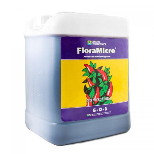 FloraMicro SW GHE 5 L (для мягкой воды), (t°C) Flora Micro — основа серии удобрений Flora Series™, обеспечивает растение первичными и вторичными питательными элементами в хелатной форме и полным комплексом микроэлементов. Стабилизирует pH посредством органических буферов. Для мягкой воды (солесодержание воды менее 60 мг/л).