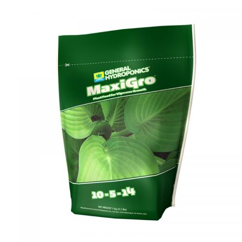 MaxiGro 1кг Удобрение для стадии вегетативного роста. Минеральное сухое удобрение MaxiGro стимулирует рост саженцев и черенков, обеспечивая растения жизненно необходимыми элементами для активного вегетативного роста.