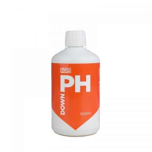 pH Down E-MODE 0.5 L (t°C) Понизитель уровня pH раствора Препарат предназначен для повышения рН раствора или воды.