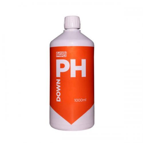 pH Down E-MODE 1 L (t°C) Понизитель уровня pH раствора Препарат предназначен для повышения рН раствора или воды.